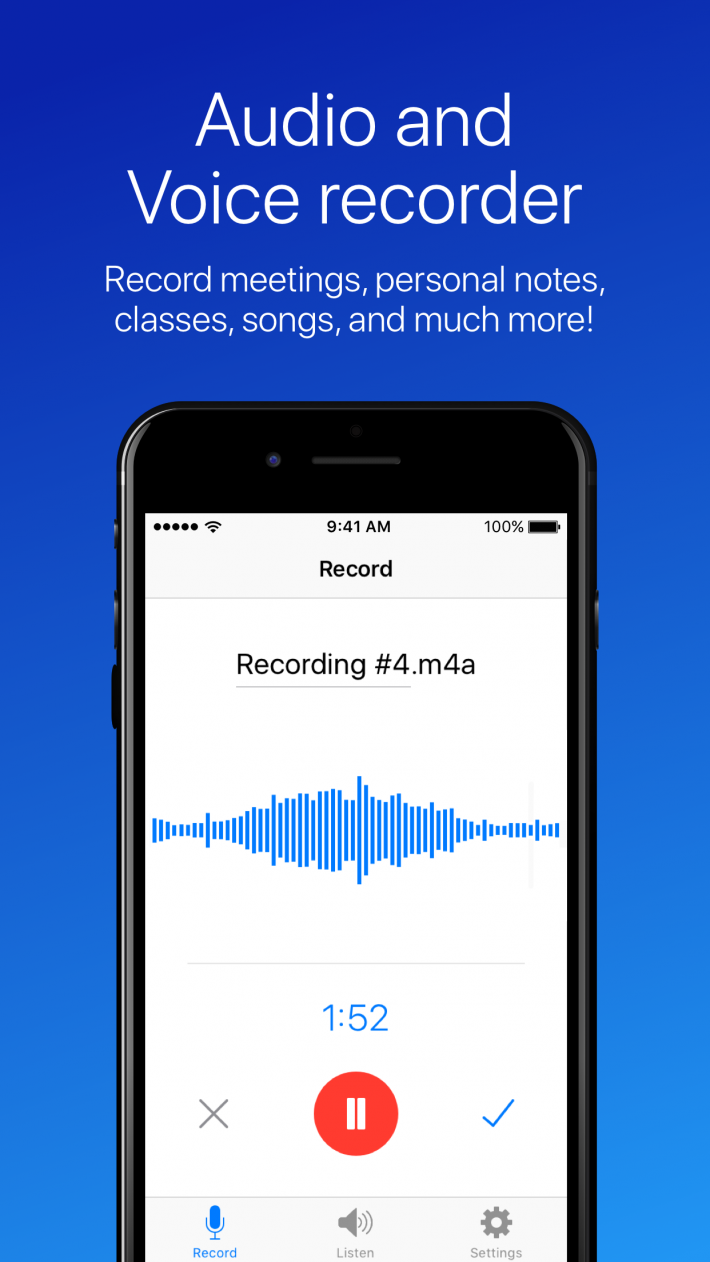 Easy Voice Recorder for iOS