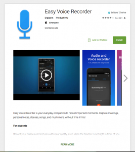 Easy Voice Recorder -- Editors' Choice at Google Play